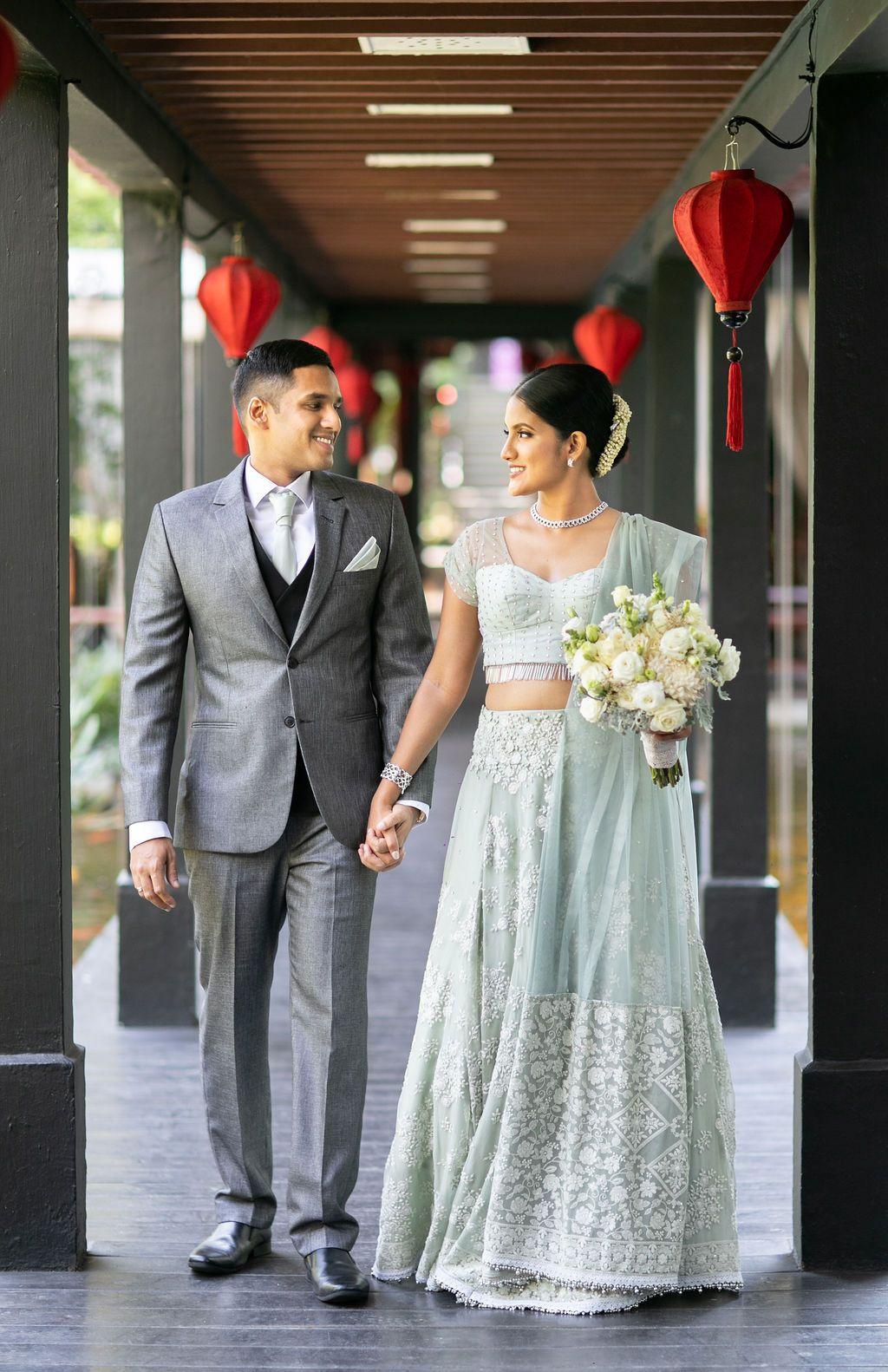 Lehenga Sri Lanka Bridal Bride Saree Wedding Bridal Dresses Indian Sari Dress [ 1582 x 1024 Pixel ]