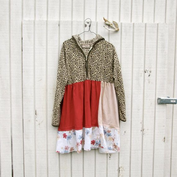 Upcycled Clothing / Hoodie Day Dress