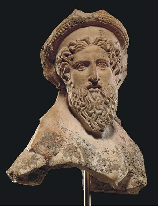 A Greek Terracotta Dionysos Classical Period Circa Late 5th Century B C Ancient Greek Theatre Classical Antiquity Ancient Art