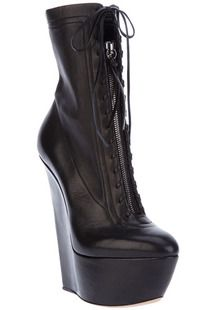 Women Boots, Women's Shoes, 2013 European and American Casadei leather female boots slope with heavy-bottomed platform shoes high heel women boots lace zipper