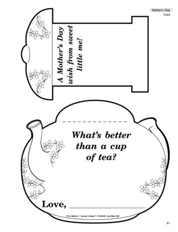 What S Better Than A Cup Of Tea Lesson Plans The Mailbox Printable In Documents As Mothers Day Crafts Preschool Mothers Day Card Template Mothers Day Cards
