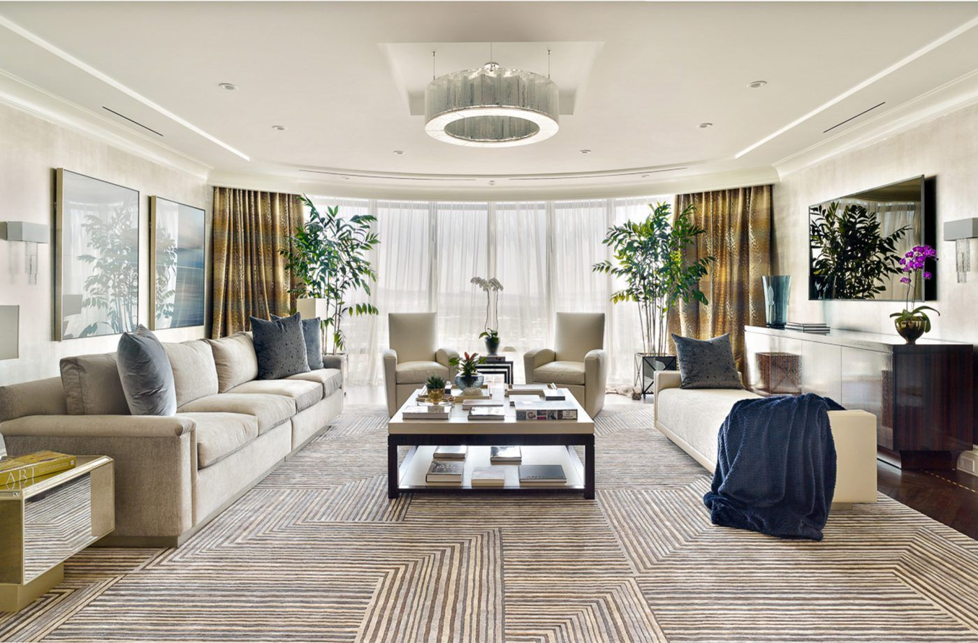 Modern Glam Penthouse Living Room by Tara Dudley Interiors ...