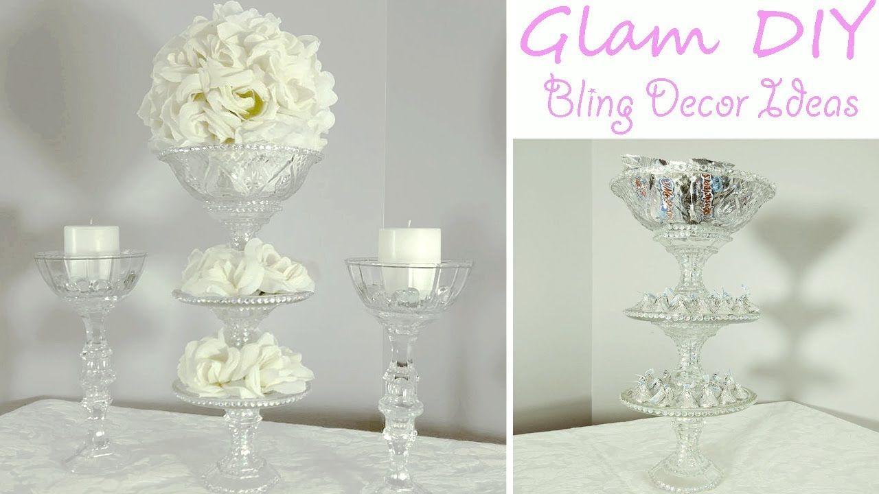 Dollar Tree DIY Glam Bling Wedding Centerpiece 3 Tier Candy Tray ...