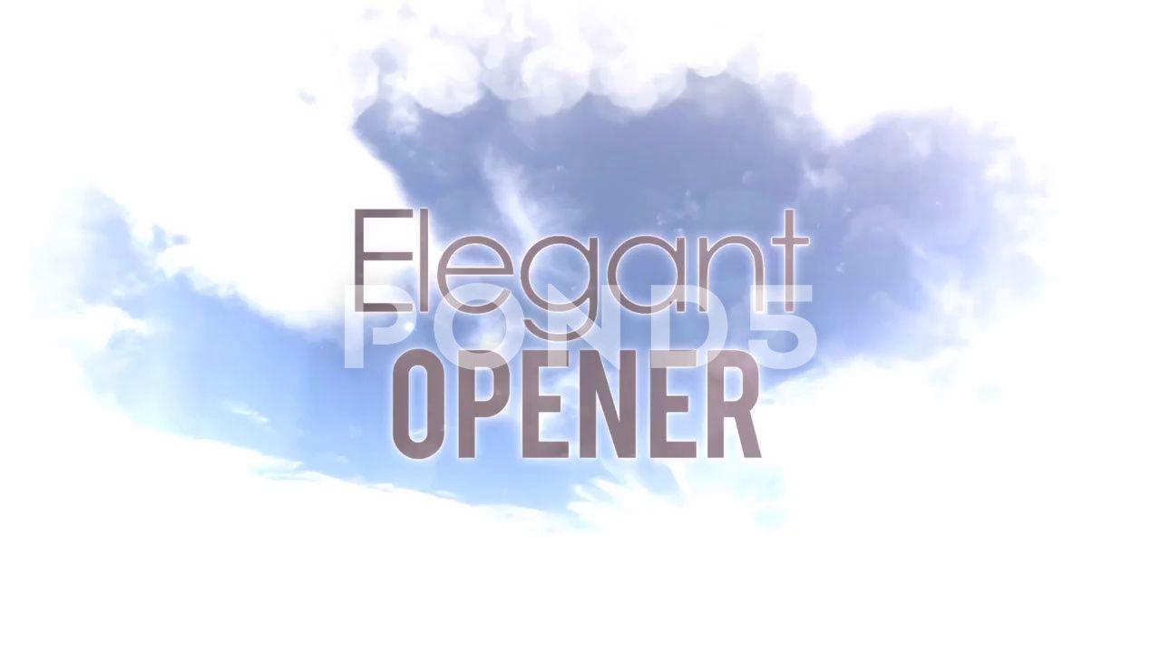 Elegant Opener After Effects Template Stock After Effectsopener