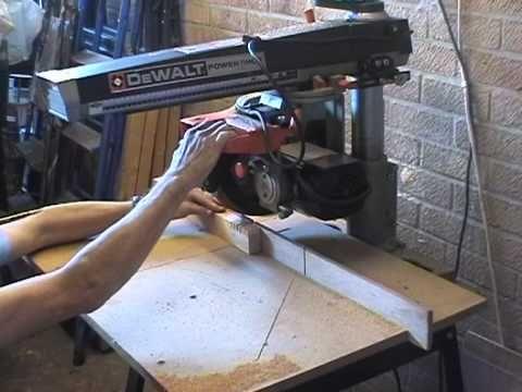 A Four Minute Film Of The Dewalt 1251 Radial Arm Saw