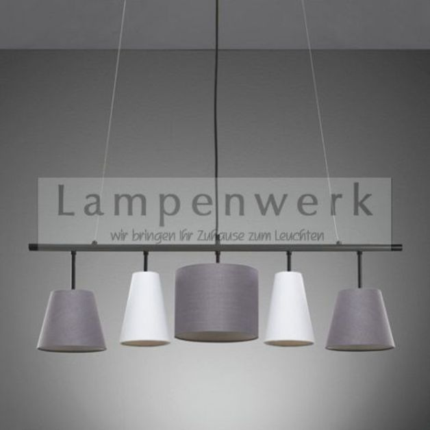 Hängelampen - Lampenwerk Hängelampe STRAIGHT mit Textilschirmen - ein Designerstück von Lampenwerk bei DaWanda