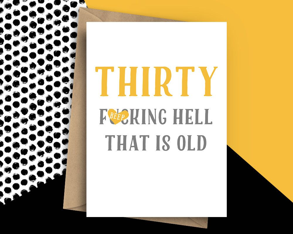 Excited To Share The Latest Addition My Etsy Shop Funny Thirty Card 30th Birthday Rude 30 For Him Humorous