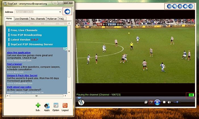 Download SopCast App and Watch Football Live Streaming for