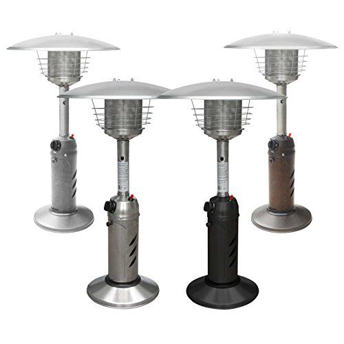 thermo tiki premium tabletop propane outdoor patio heater w cover multiple colors available - Outdoor Propane Heaters
