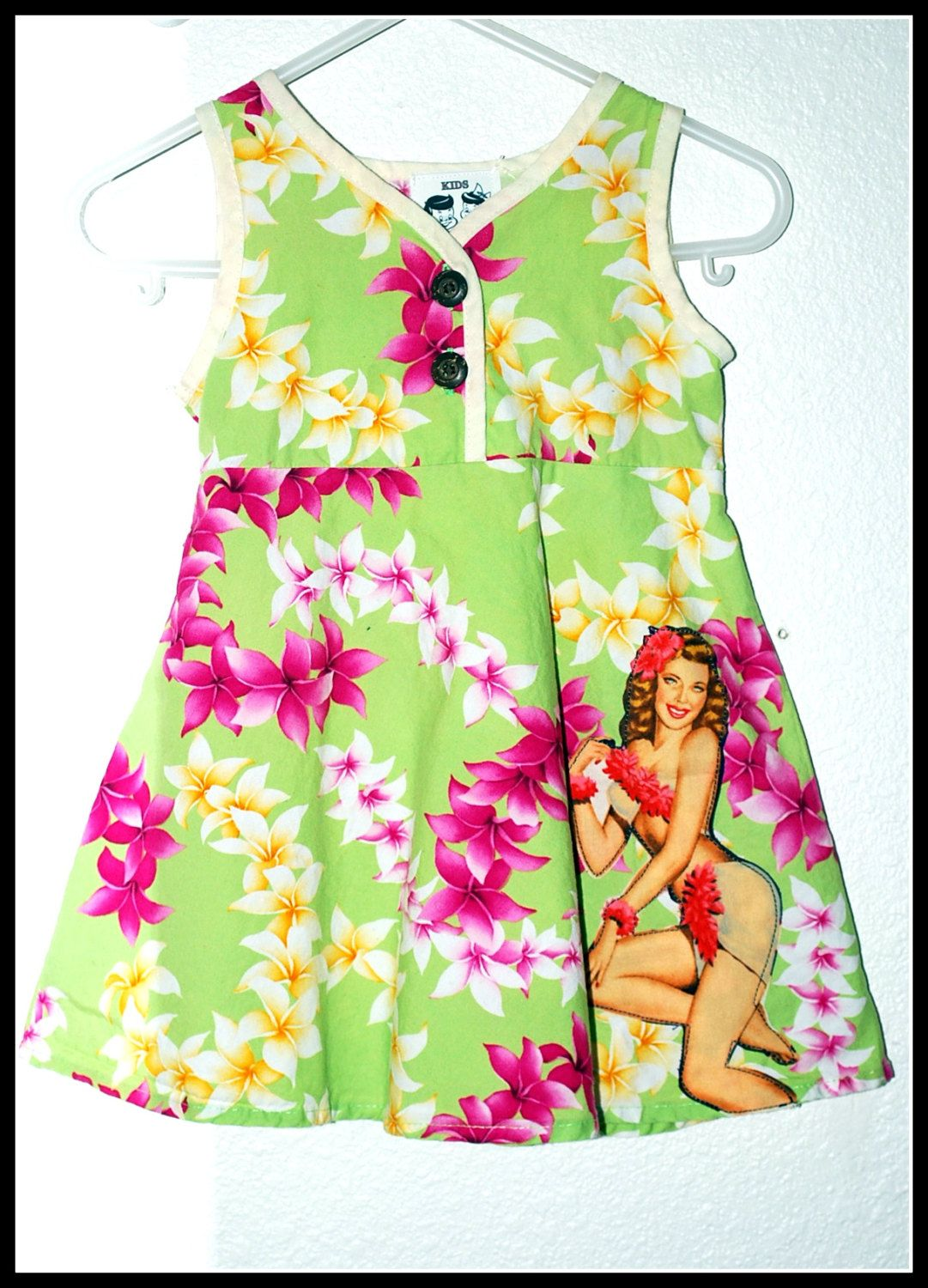 1ffeb3fe995 Girls Rockabilly Retro Style Pinup Girl Tropical Dress Size 18 months by  DollfaceBettys on Etsy