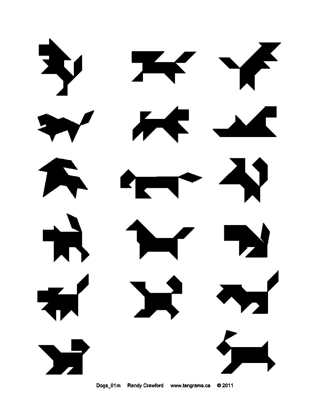 TANGRAM DOGS | Tangrams.ca - History - Make - Puzzles - Downloads ...