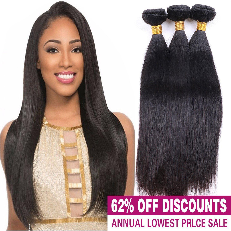 Unprocessed Virgin Brazilian Silky Straight Human Hair Weave
