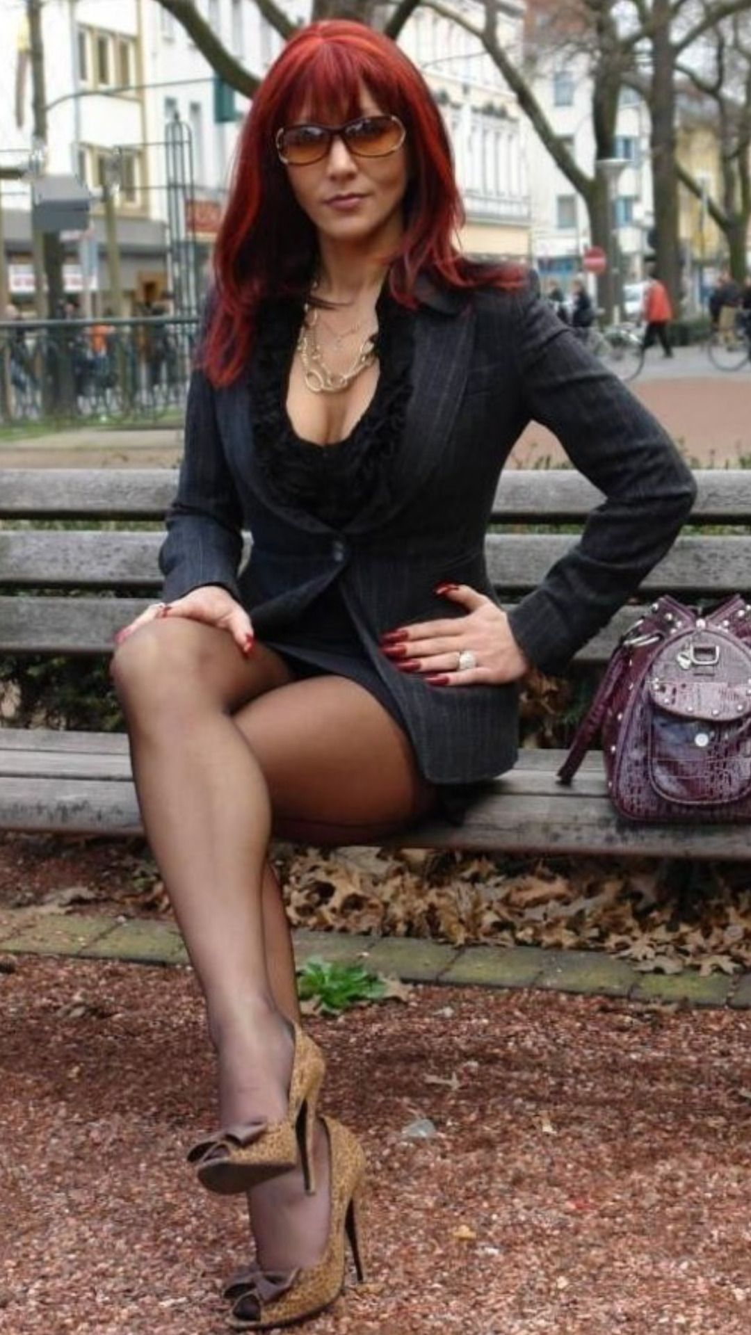 Beautiful Redhead Girl Posing In Straw Hat For Fashion