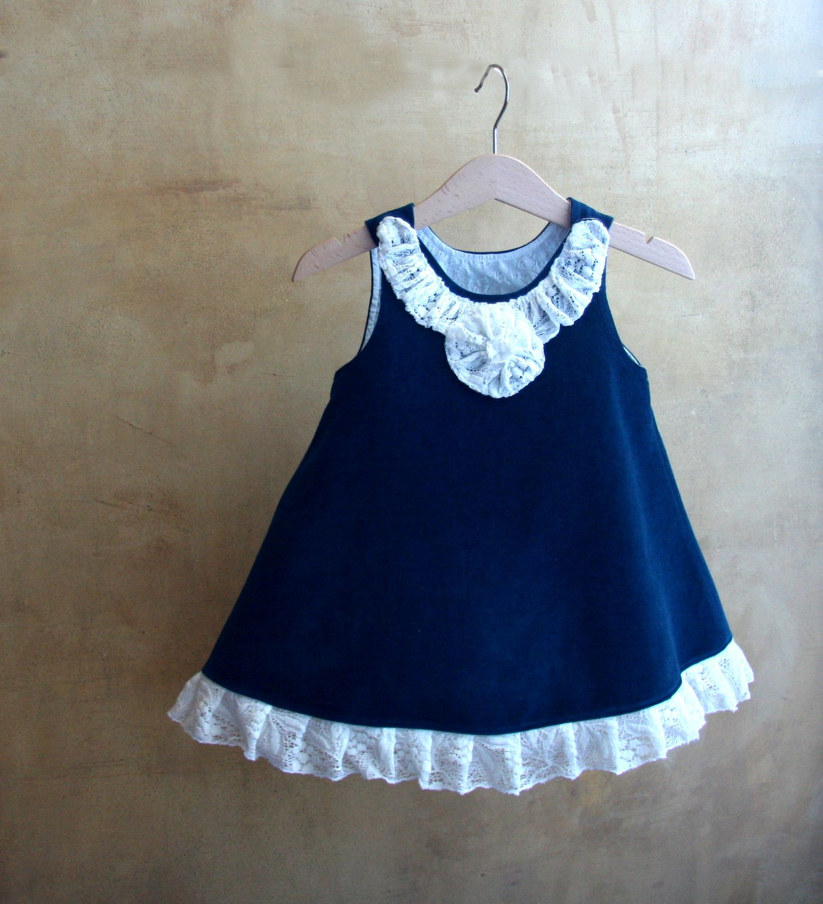 CLICK HERE TO BUY Blue velvet and white lace too chic s