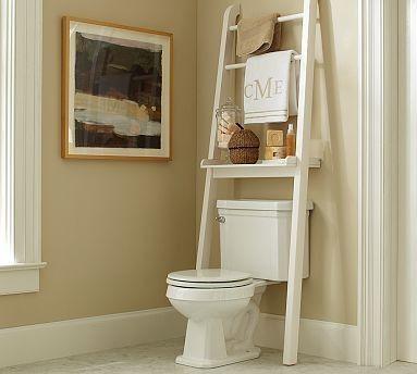 Nice Over The Toilet Ladder Shelf.