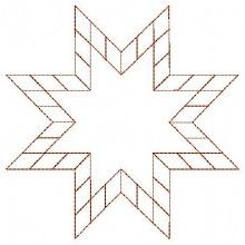 Star Quilt - Machine Embroidery Designs