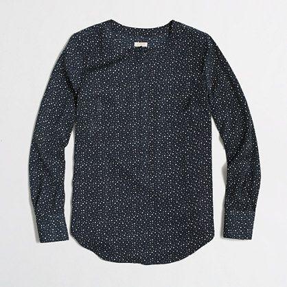 a1dea206f6a J Crew factory printed draped henley tunic