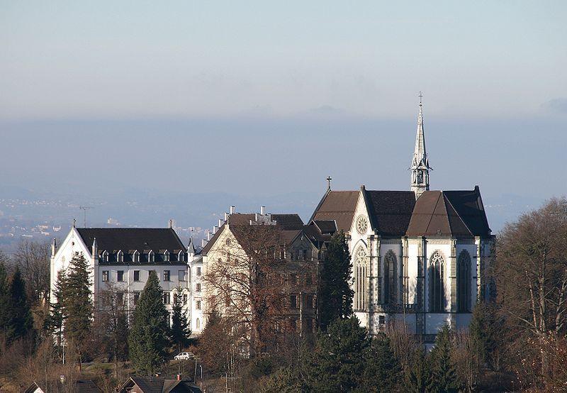 Kloster und Klosterkirche zum Heiligsten Herzen Jesu in Riedenburg mit Sacré Coeur Bregenz Riedenburg