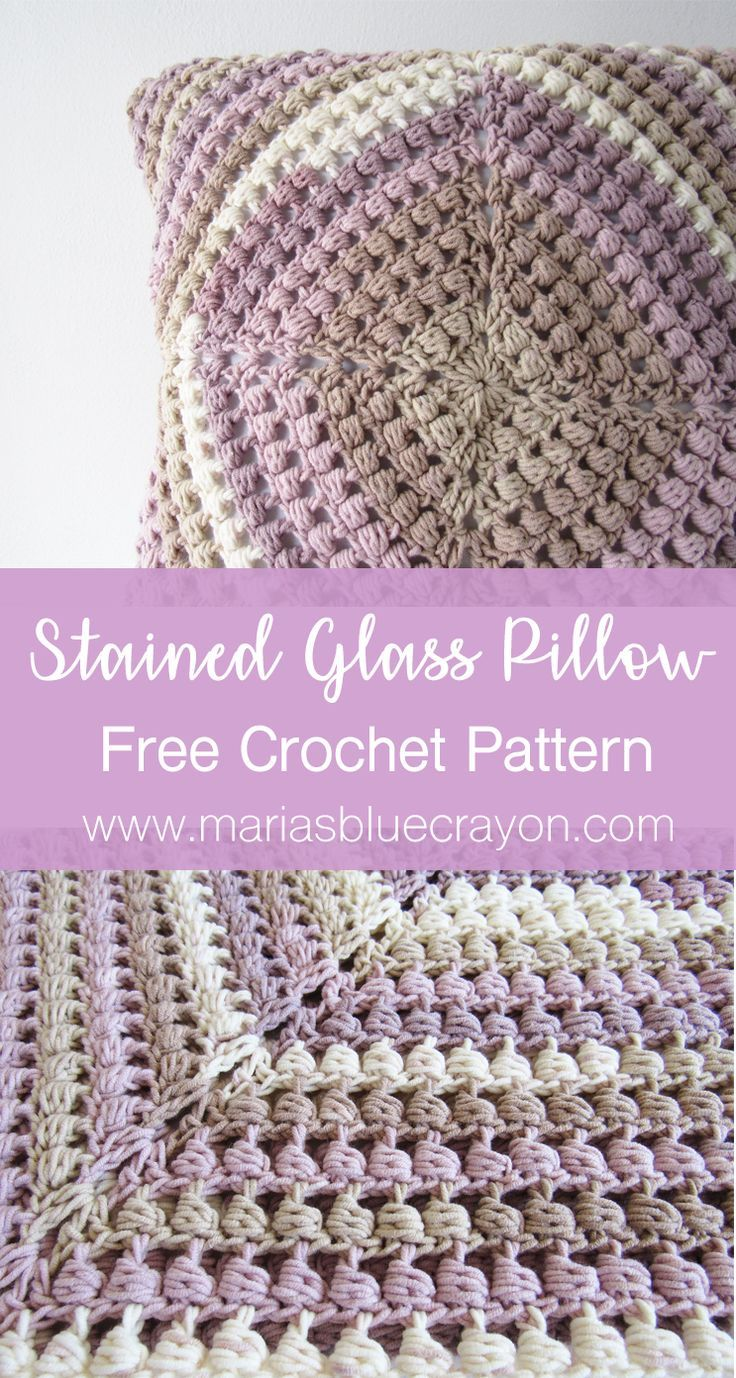 stained glass pillow cover free granny square crochet pattern smoothies pinterest stoffe muster und hkeln - Hakelmutzen Muster