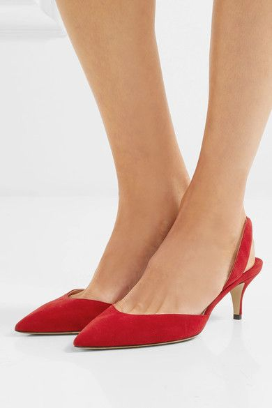 787694ad9629 Paul Andrew - Rhea Suede Slingback Pumps - Red