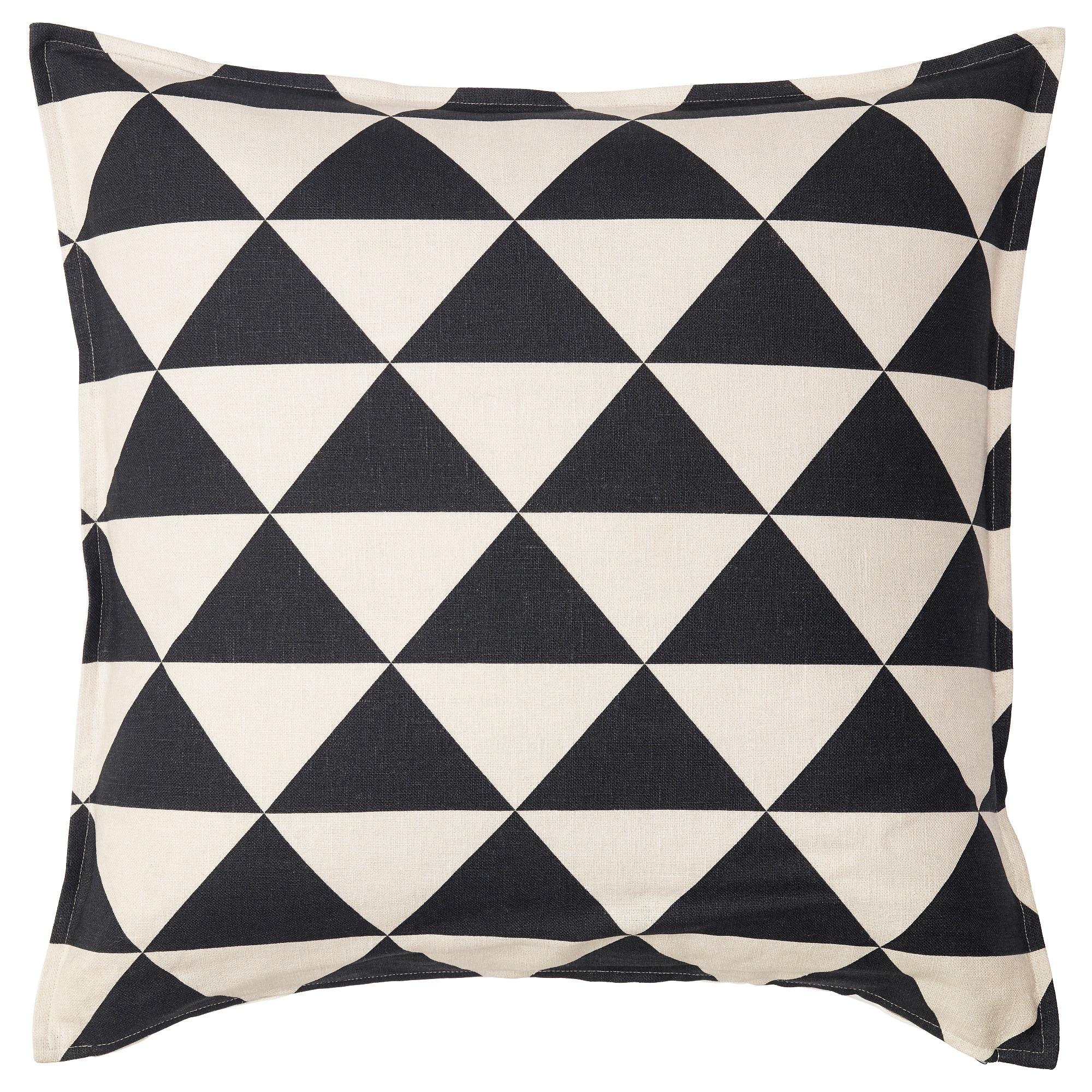 Johanne Cushion Cover Natural Black