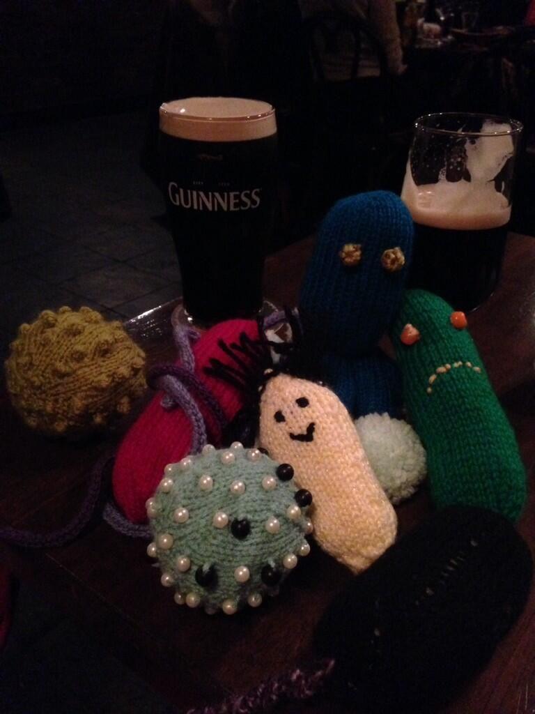 #microbes enjoying a night in #Dublin    http://www.glasgowcityofscience.com/get-involved/knitting-microbes