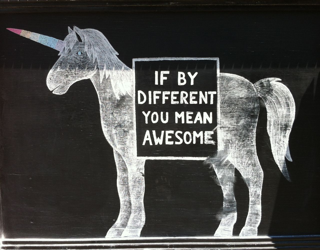 If by different you mean AWESOME