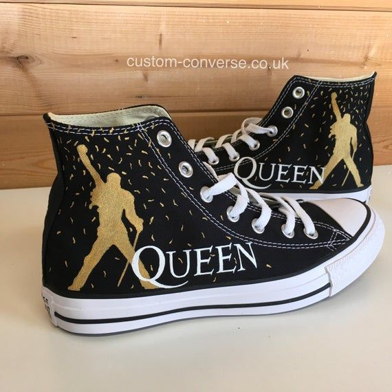 Black and Gold Imagine Dragons Converse | Moda con