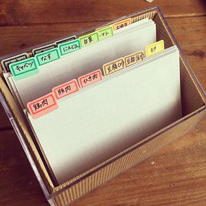 献立(レシピ)カード