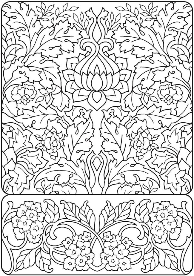 Creative Haven Deluxe Edition Elegant Art Nouveau Coloring Book Coloring Pages Mandala Drawing Coloring Books