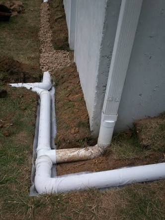 Image result for connecting french drain to storm drain ...