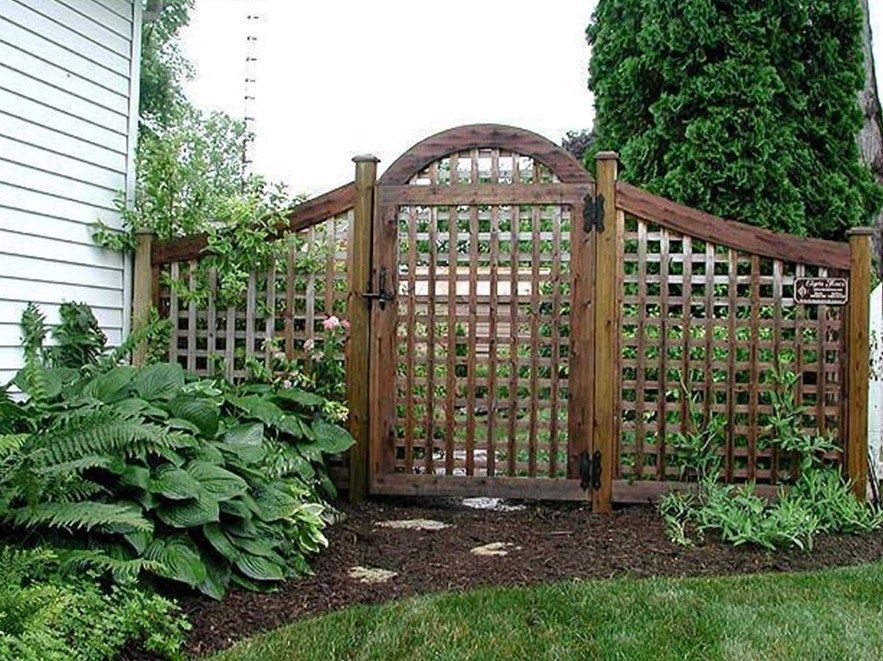 Front Yard Trellis Ideas Part - 17: Image Result For Front Yard Fences With Lattice And Gate
