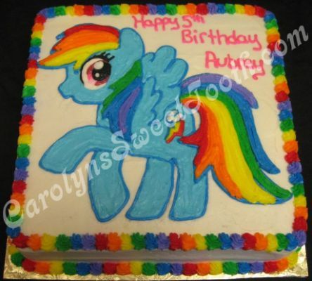 My Little Pony Cake Rainbow Dash Maddys Birthday Jpg 444x400 Sheet