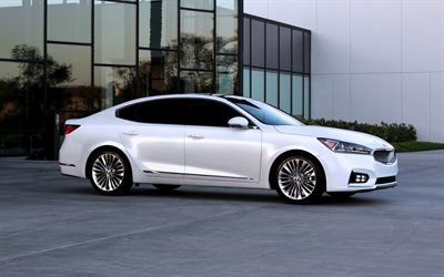 KIA Cadenza, 2016, White Cadenza, luxury sedan, Korean cars, KIA