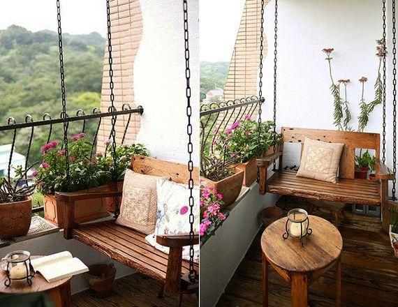 Balkon-gestaltungsideen--unser-kleines-Wohnzimmer-im-Sommer-mit - wohnzimmer gemutlich gestalten