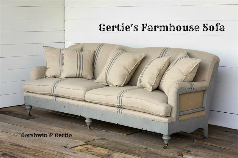 Gertie S Farmhouse Sofa Is A Big Oversized Sofa With Distressed