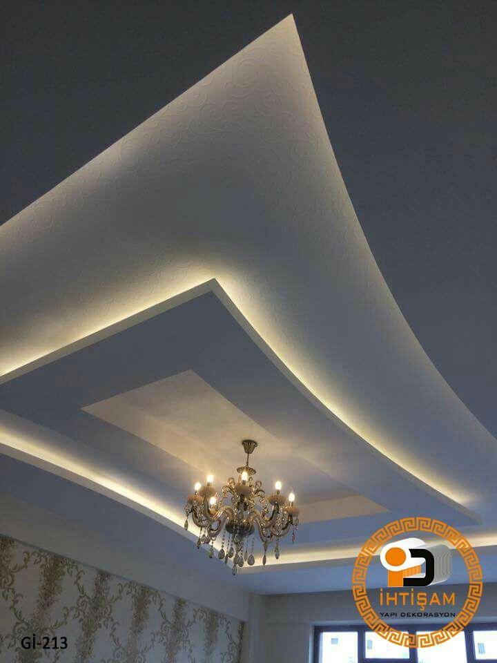 Pin de maripili fereira de navarro en drywall y luz indirecta pinterest falso techo - Plafones techo modernos ...