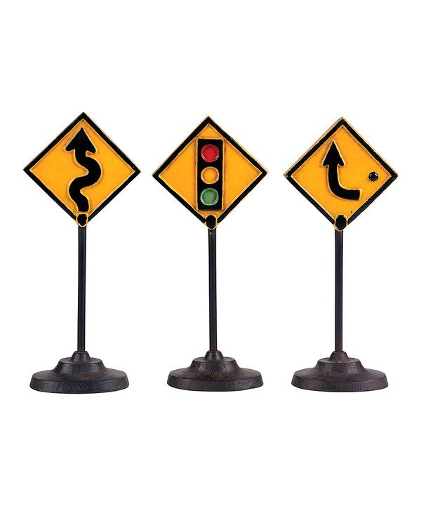 Look what I found on #zulily! Yellow Traffic Sign Décor Set by Wilco #zulilyfinds
