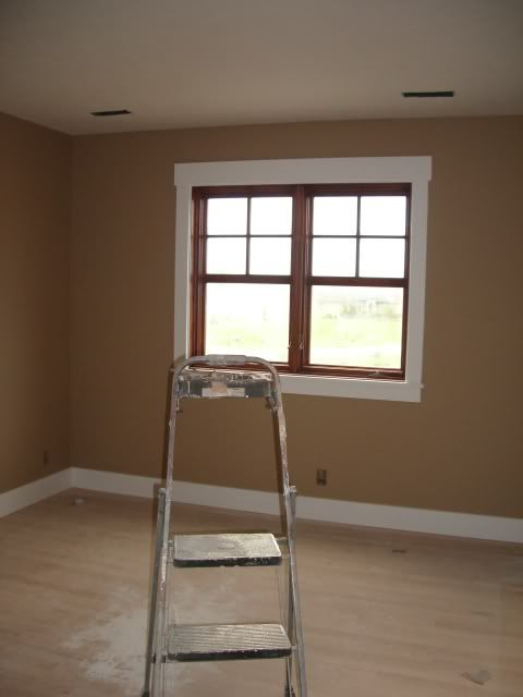 Window trim and baseboard style but stained not white floors