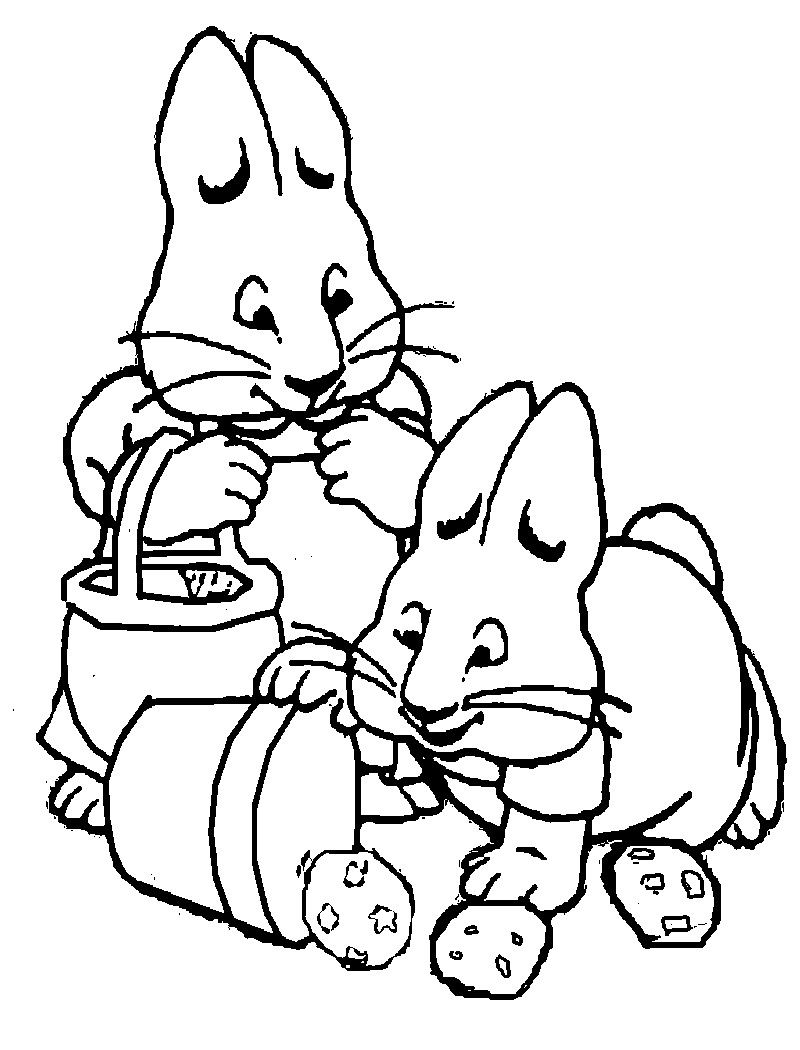 max and ruby printable coloring pages movies and tv show