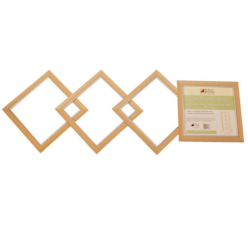 Wonderful 4 X Richard Burbidge Holz Panel Formteile Wand Tur Dekor Ahorn
