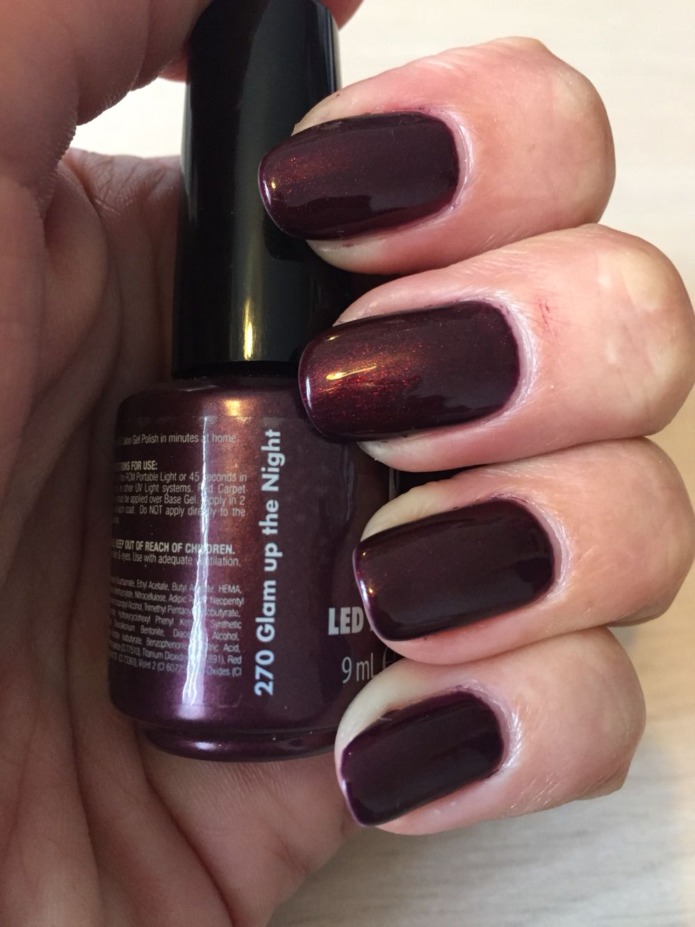 Red Carpet Manicure Glam Up The Night RCM Deep Red Nails | Buy MEE ...