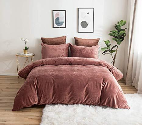 Amazon Com Phf Greek Velvet Duvet Cover Set King Size 3 Pieces Heavyweight Warm Luxury Fuzzy Bedding Set For Wint Velvet Duvet Luxury Bedding Bed Duvet Covers