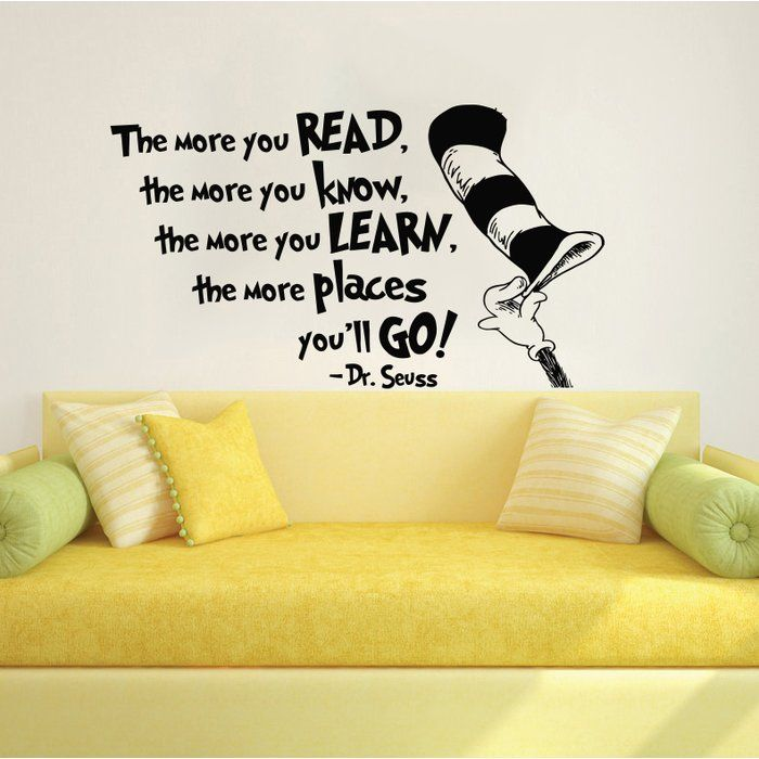 Dr Seuss the More That You Read Wall Decal | Wall decals, Walls and ...