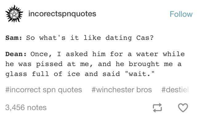 Grumpy Cas is the cutest  Supernatural  Destiel