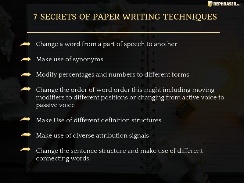 Paraphrasing Technique Secret Counseling The Techniques Apa Definition Of
