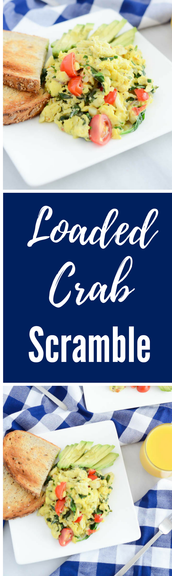 Loaded Crab Scramble | CaliGirlCooking.com