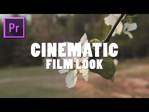 Cinematic Film Look | Adobe Premiere Pro CC Tutorial - YouTube | ae