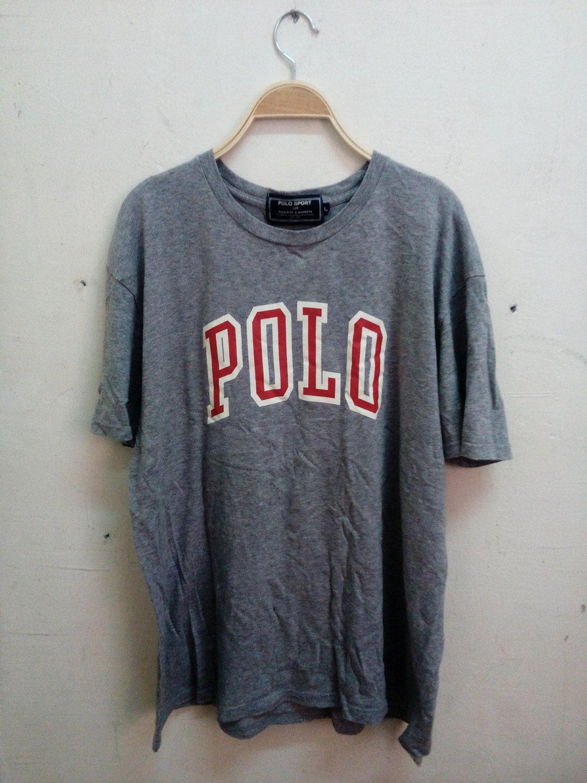 Vintage Men Rare Polo Sport by Ralph Lauren Big Logo Era t