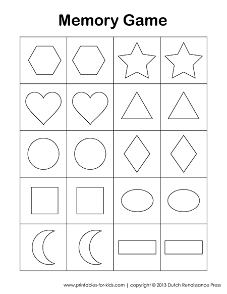 image regarding Printable Memory Games named This is a totally free printable memory match for small children. There is a